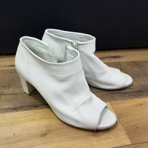 Soft leather ankle booties